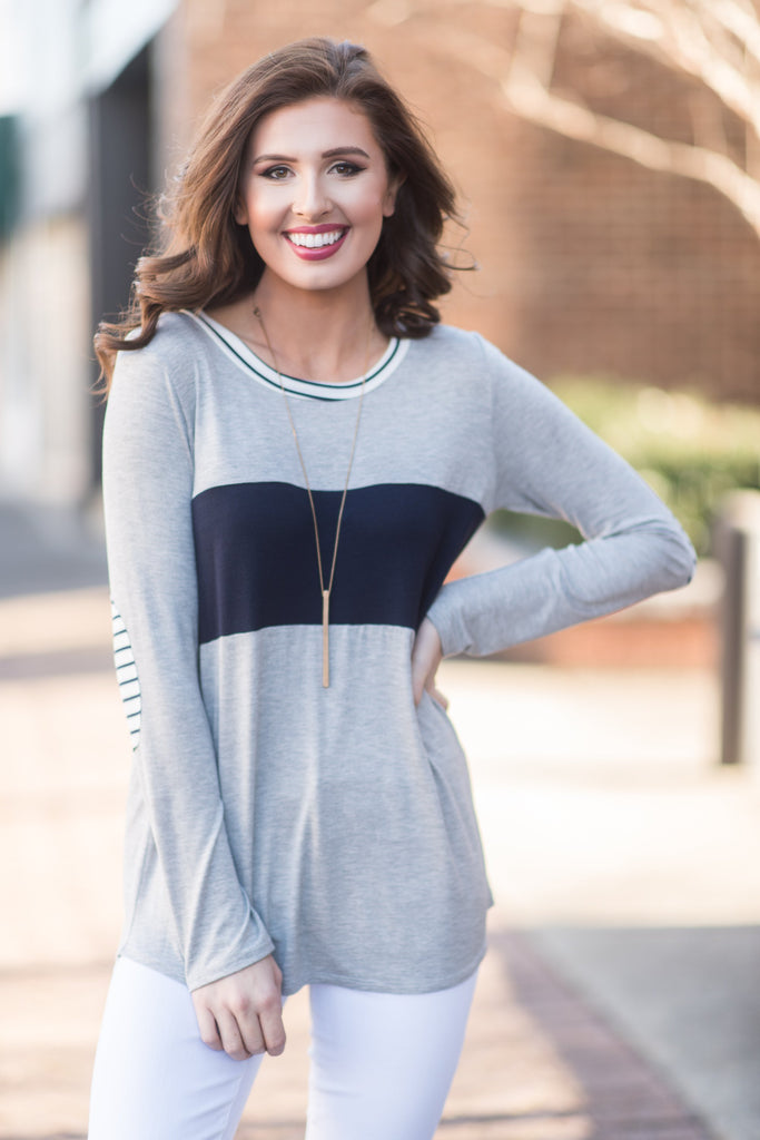 Athletic Inclinations Top, Heather Gray