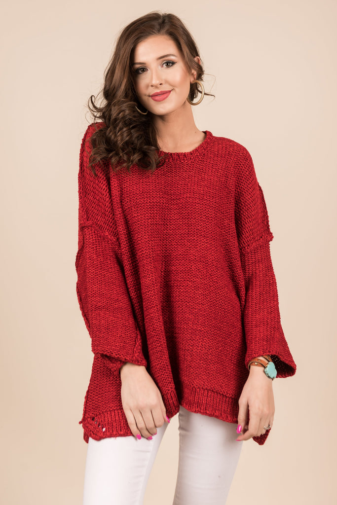 Make Yourself Known Sweater, Red