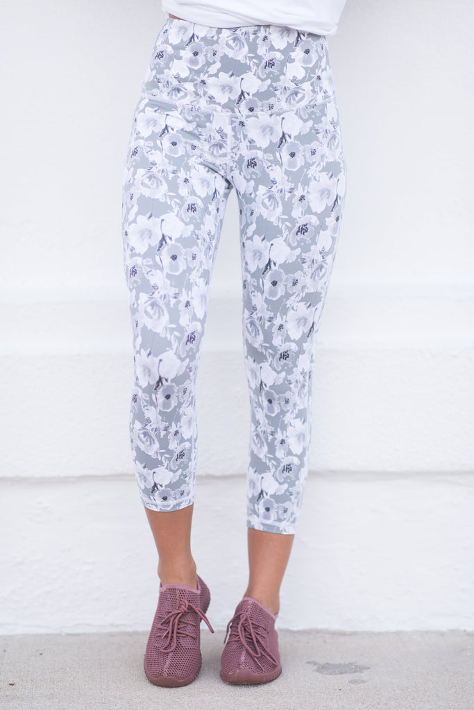 Field Of Flowers Leggings, Stone