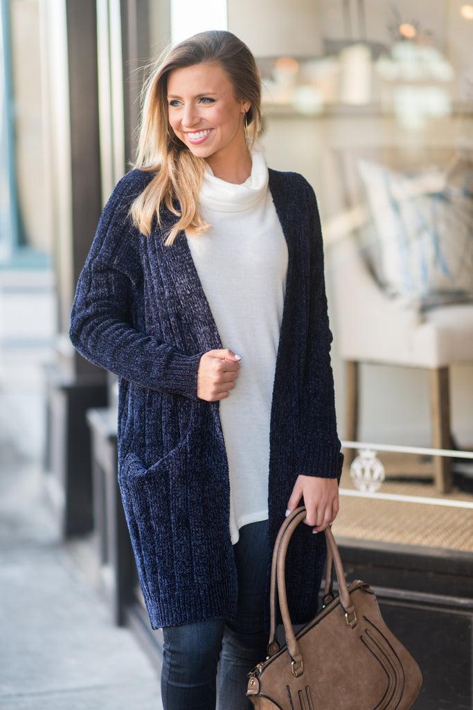 Play By The Rules Cardigan, Navy