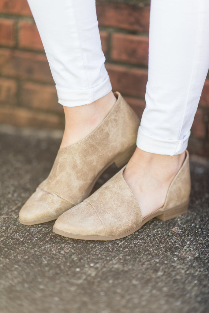 Open To Suggestions Booties, Taupe