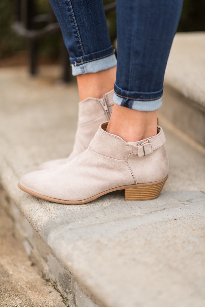 Stand Strong Booties, Taupe