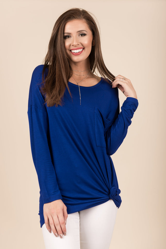 Know You So Well Tunic, Denim Blue