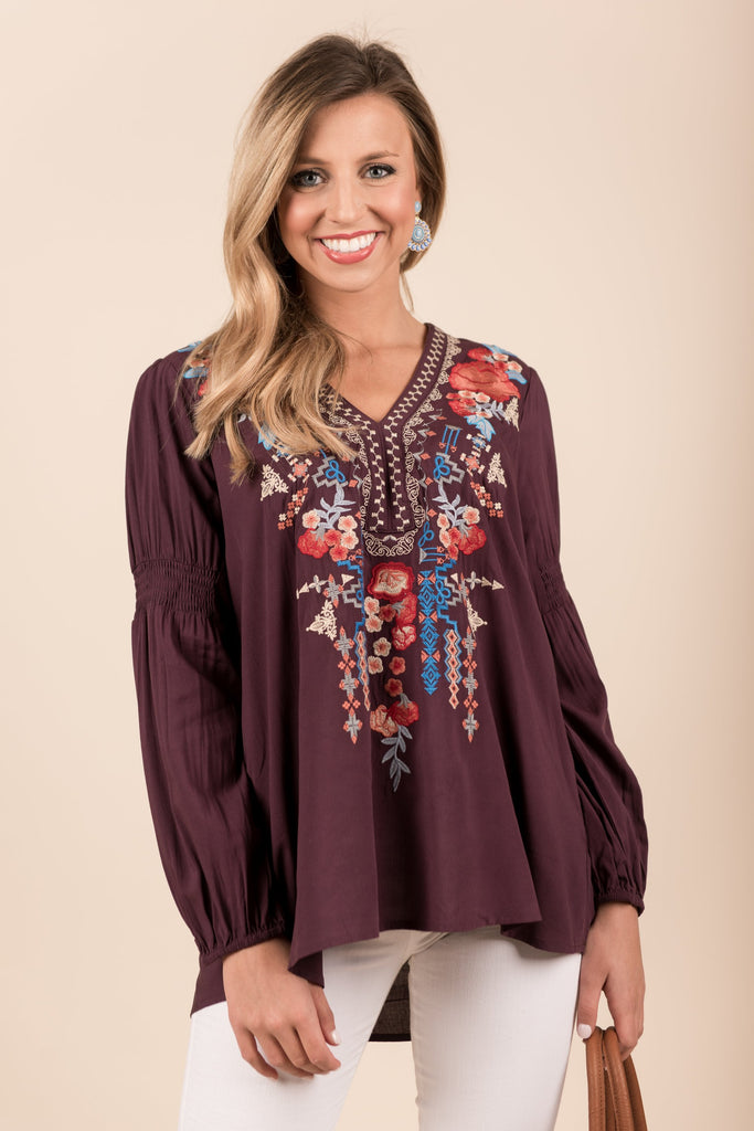 Ready For Fun Blouse, Plum