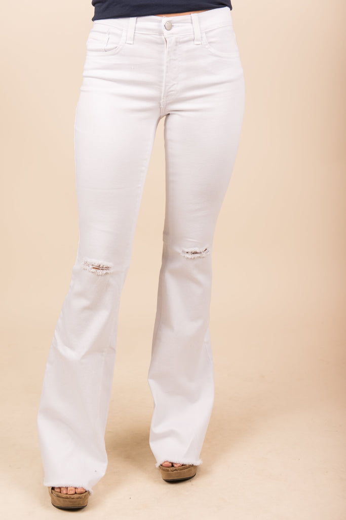 The Living End Flare Jeans, White