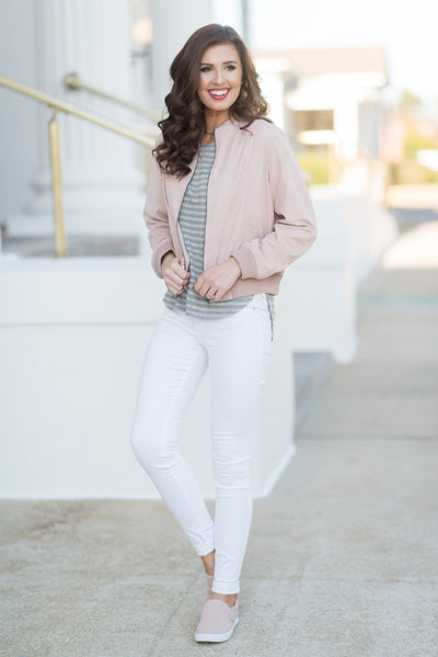 Signature Look Jacket, Blush