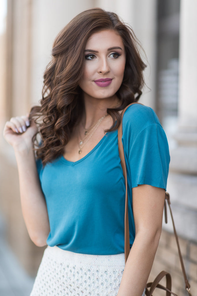 Casual Situation Tee, Teal