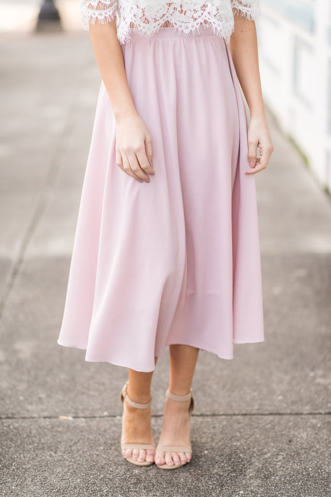 Beautiful Moments Midi Skirt, Pink