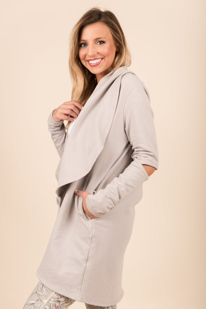 Warm Feelings Cardigan, Light Gray