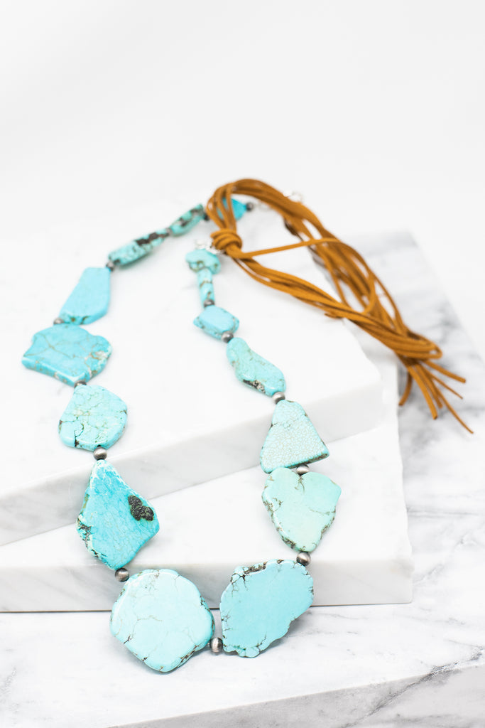 Native Wonders Necklace, Turquoise