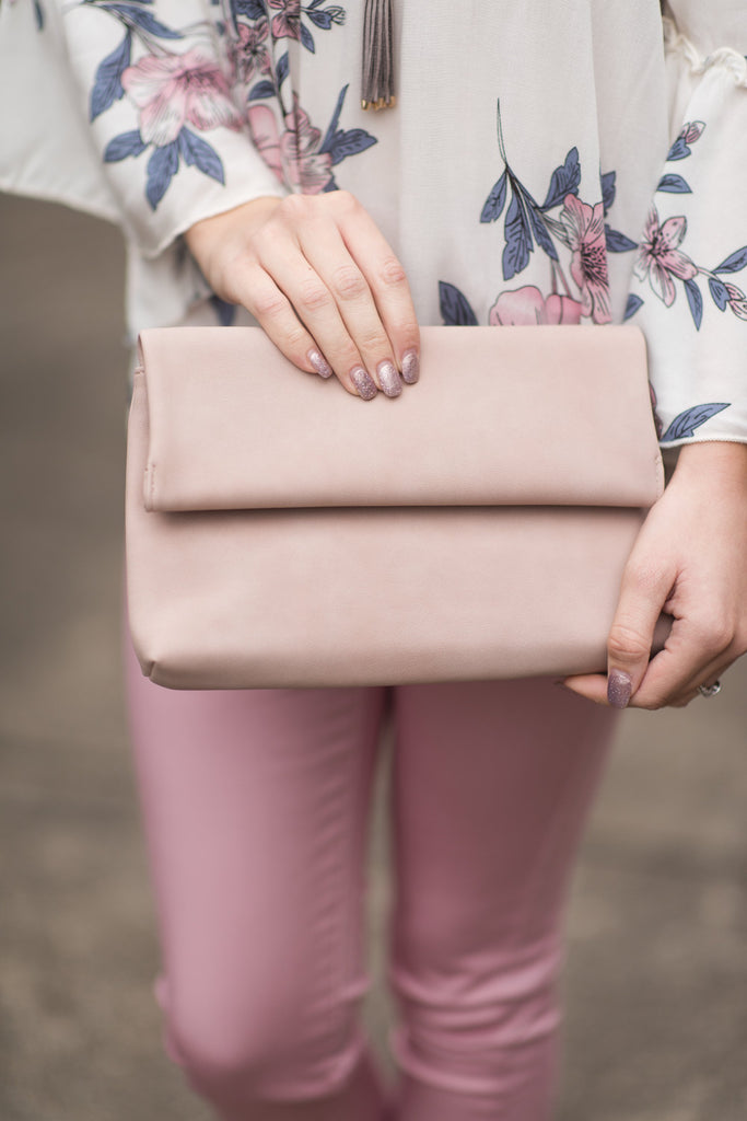 Follow The Fun Clutch, Blush