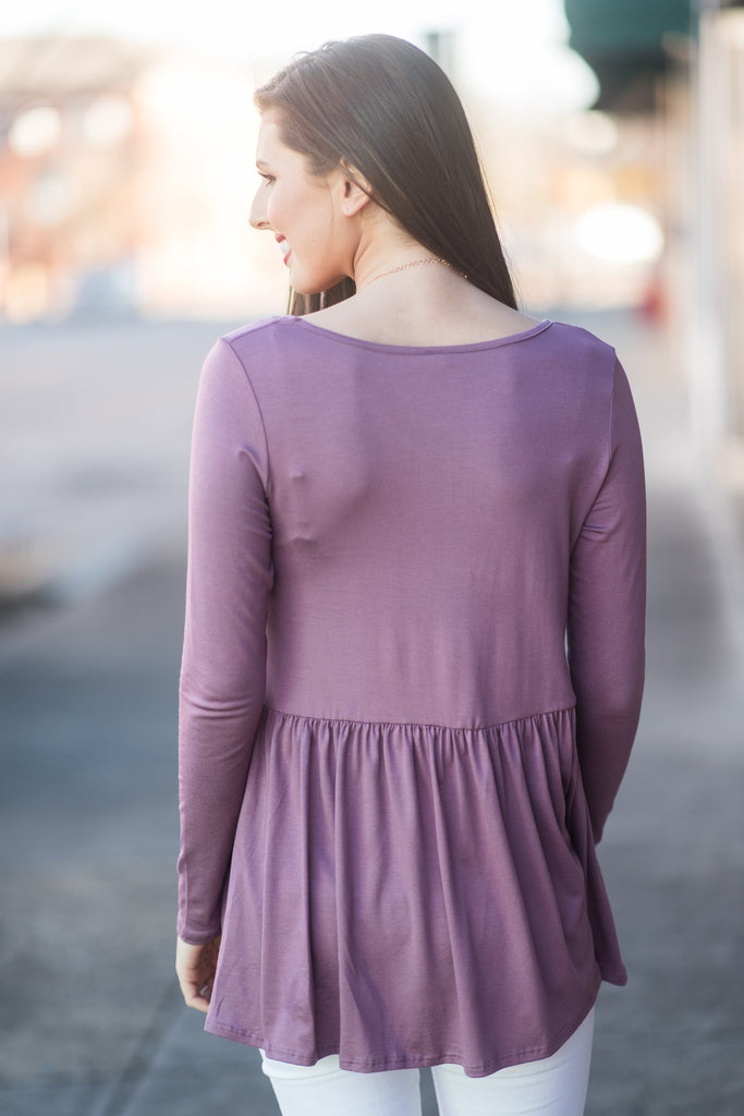 Lives For Me Top, Dusty Purple