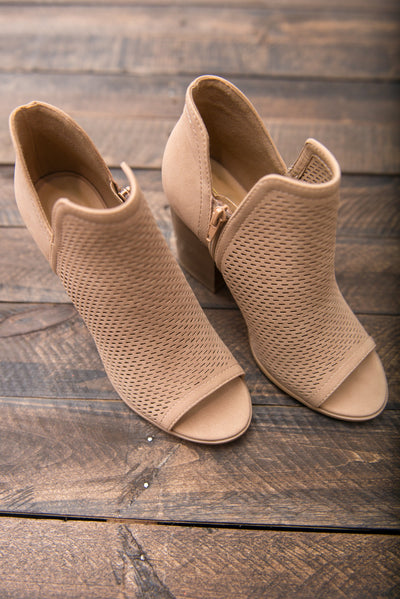 Chic Situations Heels, Taupe