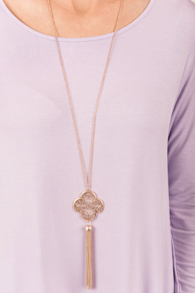 Find Your Center Necklace, Gold