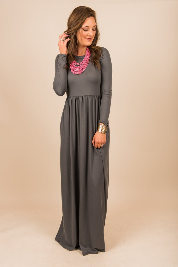 Search For Perfection Maxi Dress, Charcoal