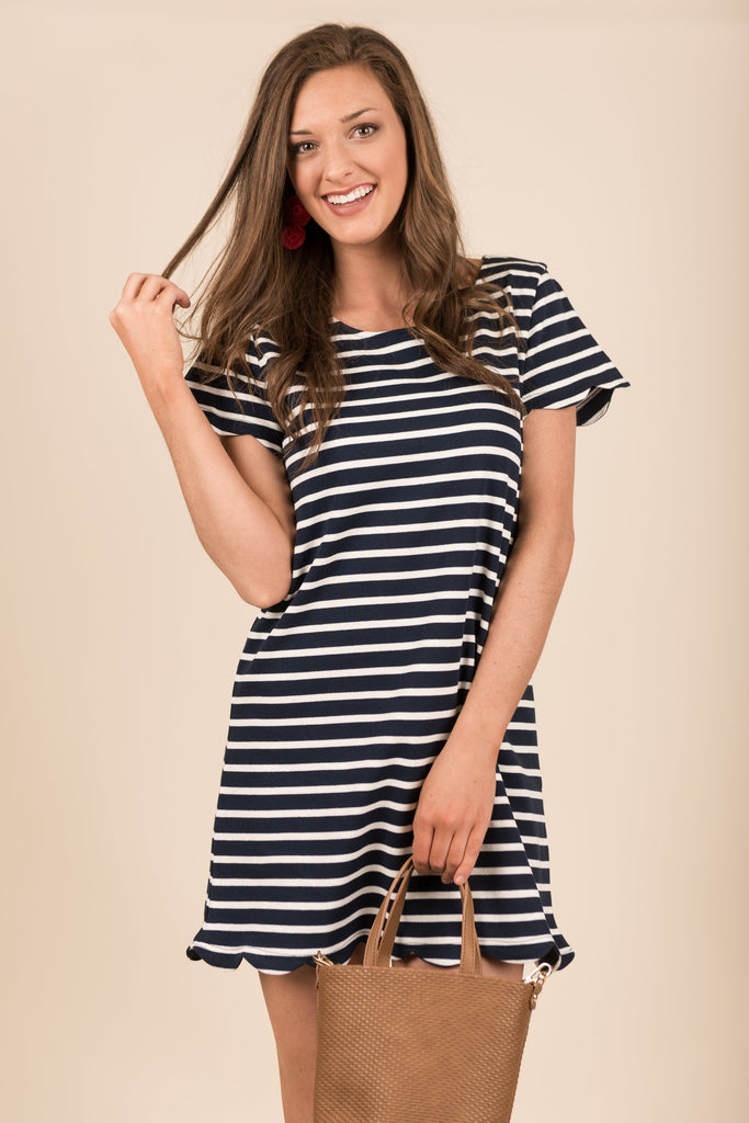 Chill And Thrill Dress, Navy