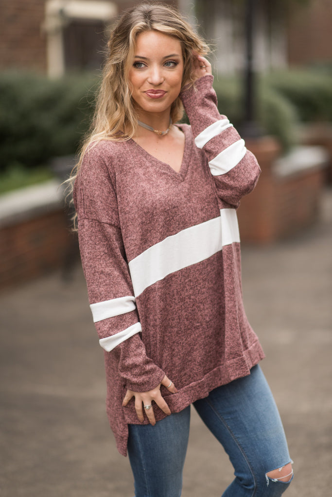 Fair Chance Sweater, Mauve