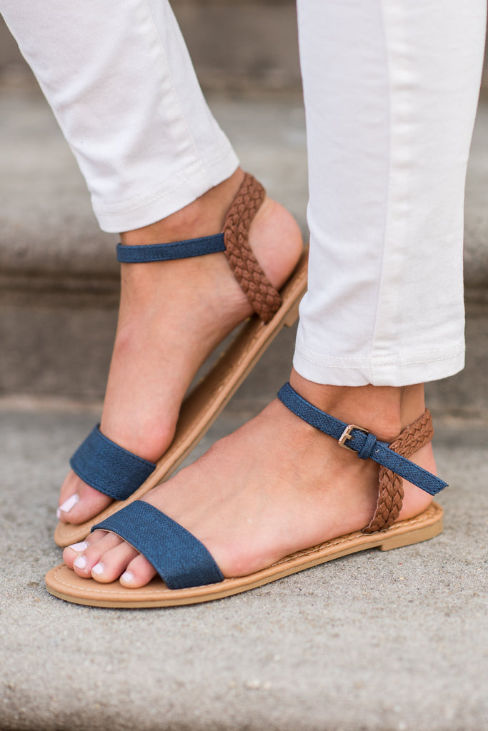 Your Lucky Day Sandals, Navy