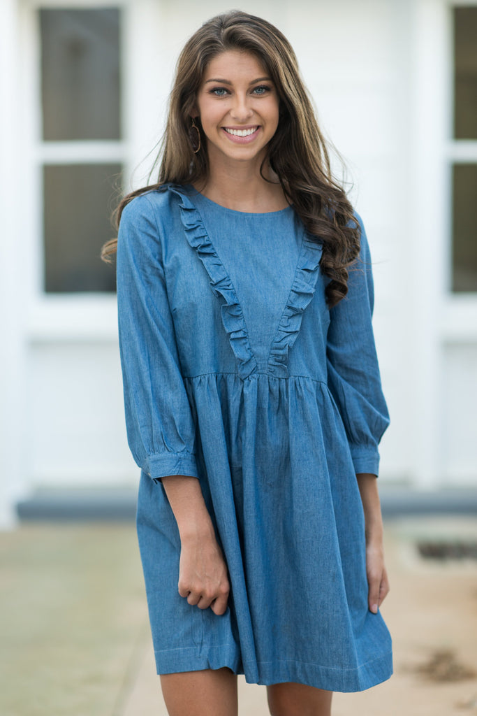 Featured Fun Dress, Chambray