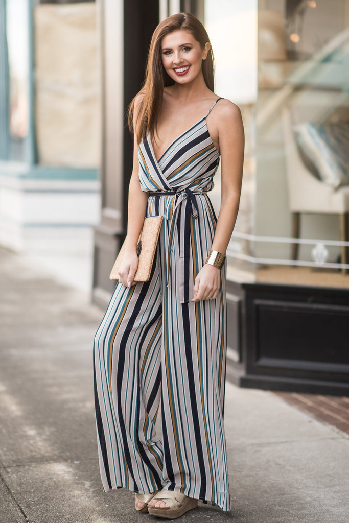 Getting Glam Jumpsuit, Gray