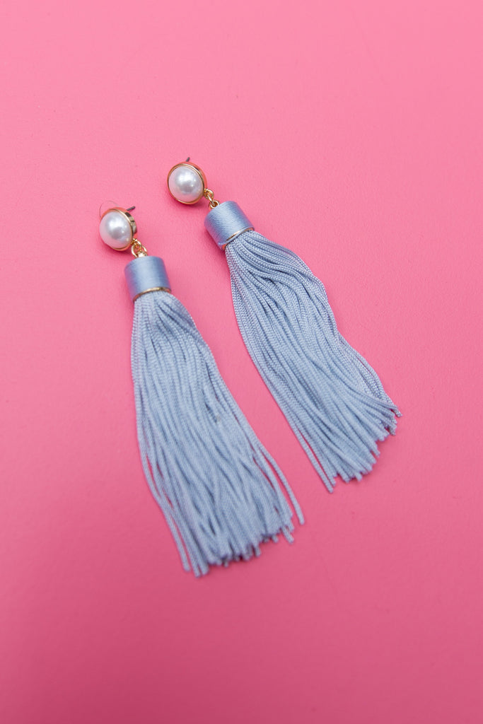 Convenient Beauty Earrings, Light Blue