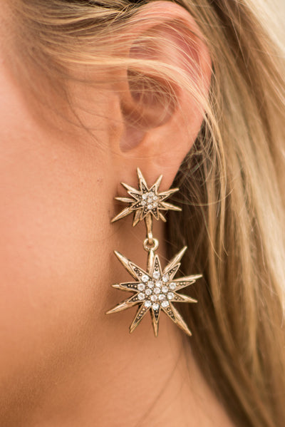 Star Of The Show Earrings, Gold