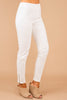 On The Edge Off White Moto Jeggings