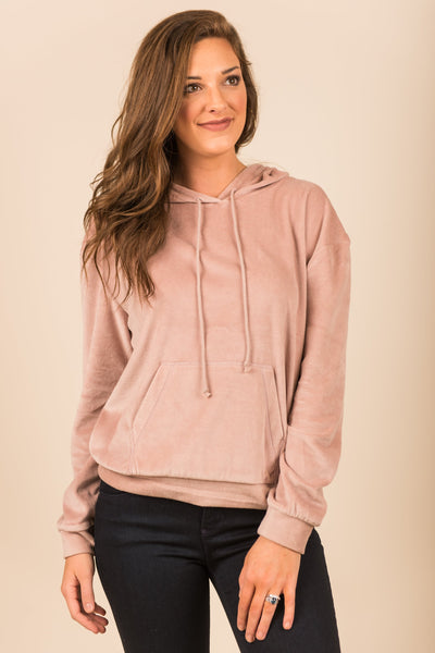Chasing The Cozy Hoodie, Blush