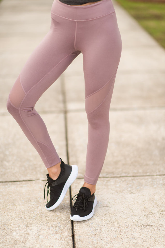 In A Routine Leggings, Lilac