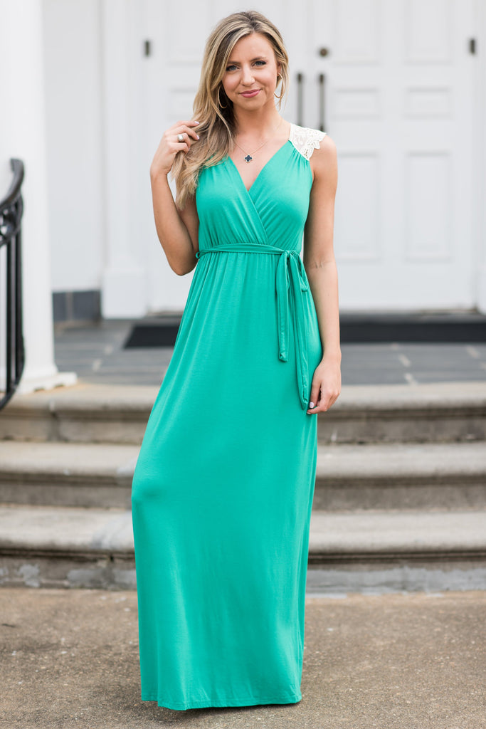 The Timeless Maxi Dress. Kelly Green