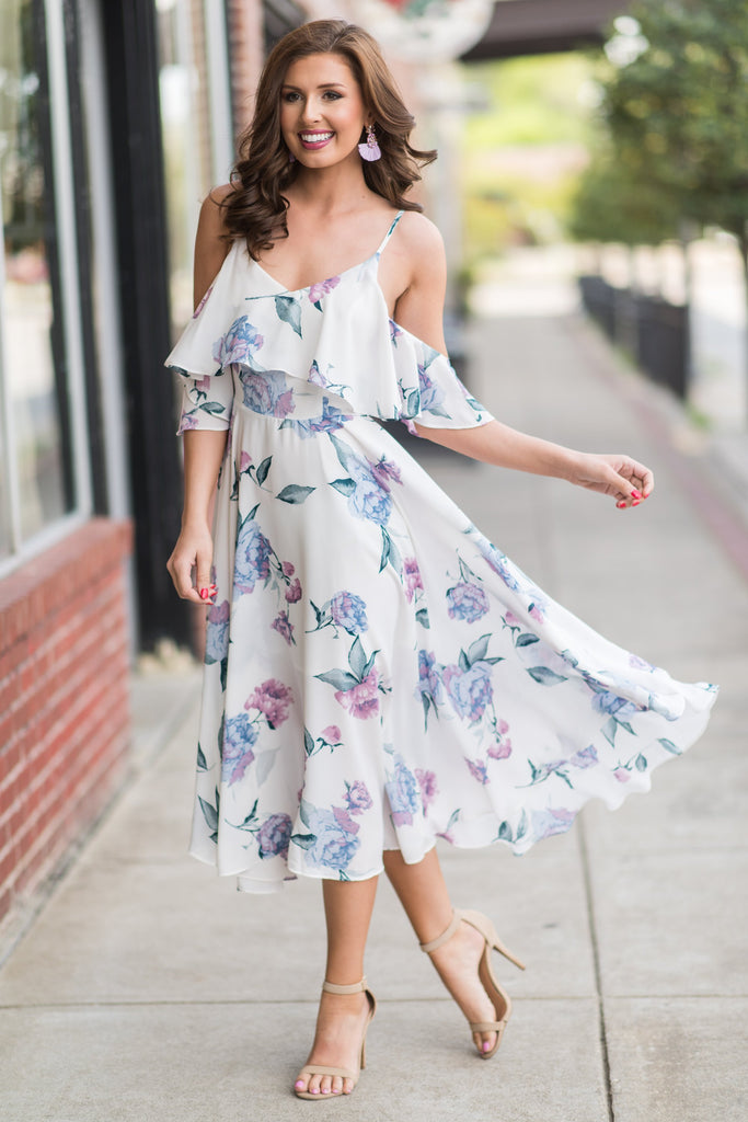 Feeling Lovely Maxi Dress, White