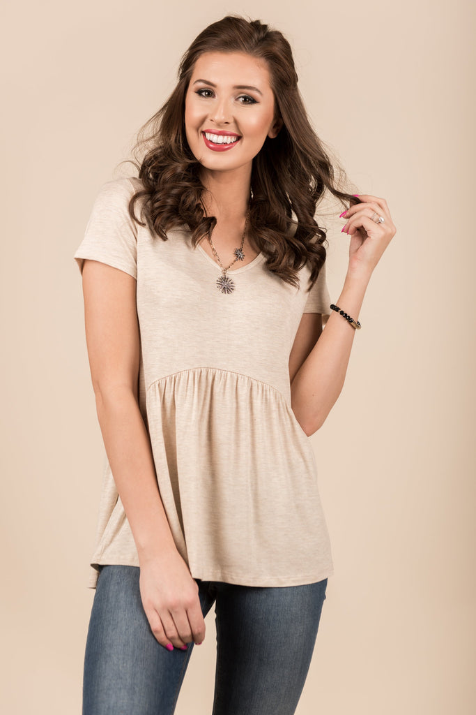 Genuine Love Top, Oatmeal