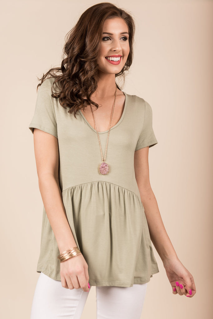 Genuine Love Top, Sage
