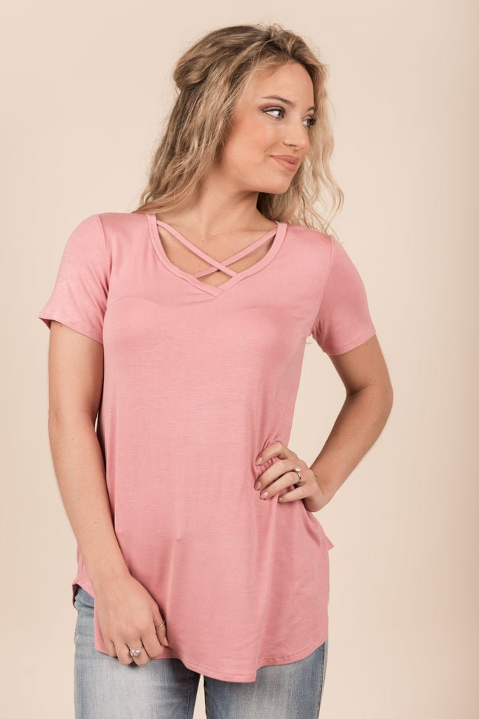 All Yours Tee, Mauve