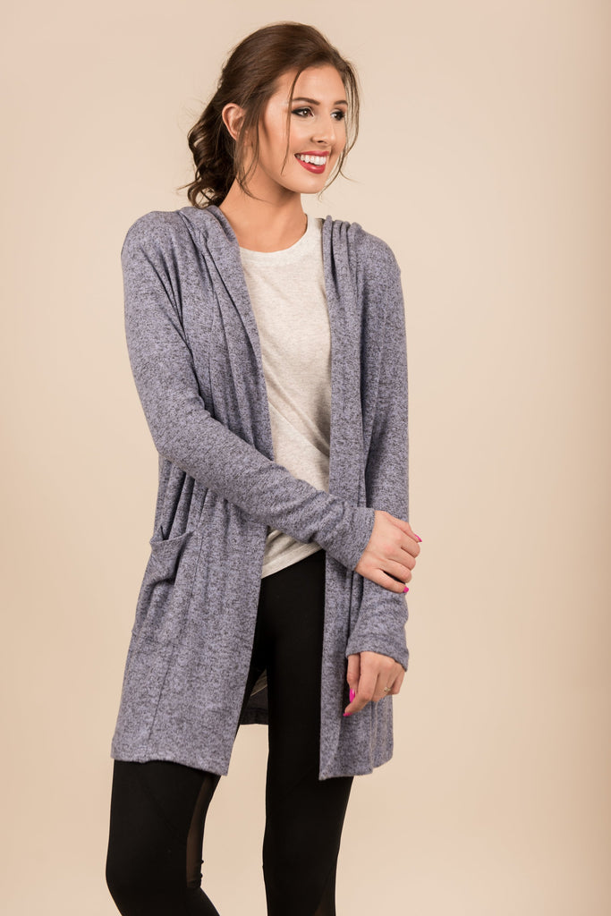 Step It Up Cardigan, Denim Blue