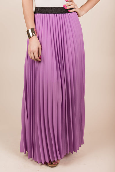 Straight To Your Heart Maxi Skirt, Lilac
