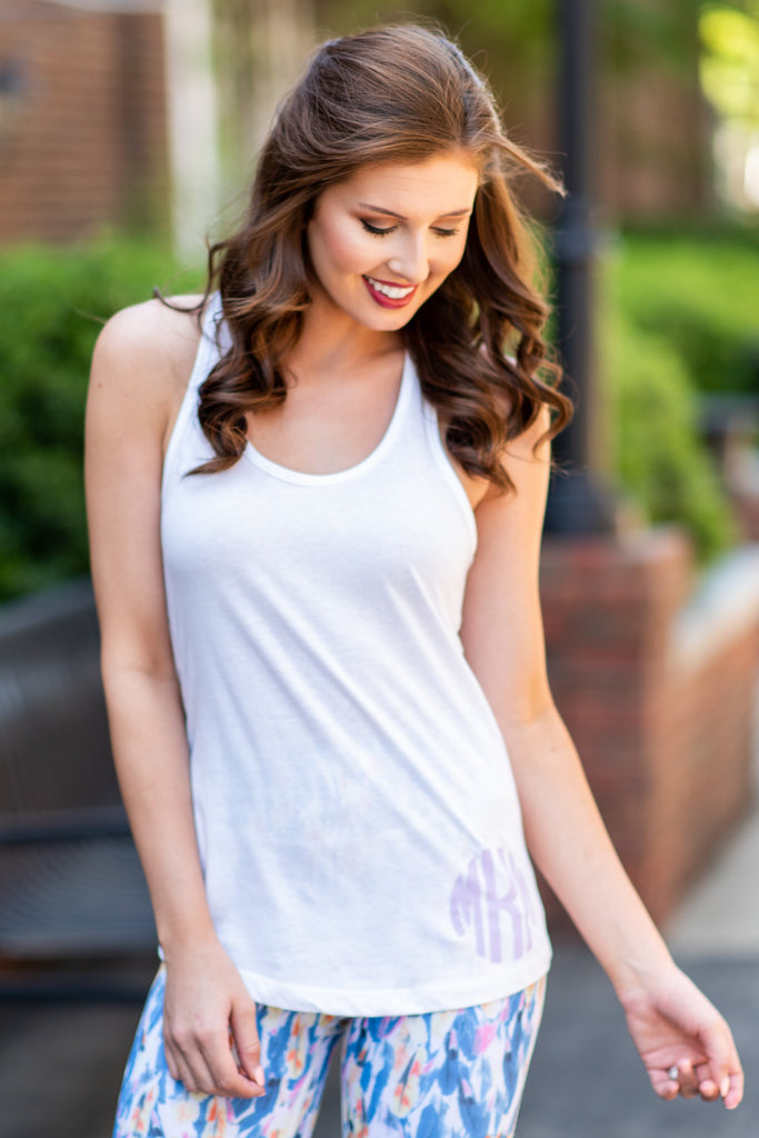 Summer Simplicity Tank, White