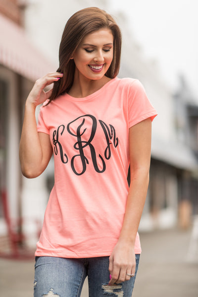 Feeling At Ease Tee, Coral