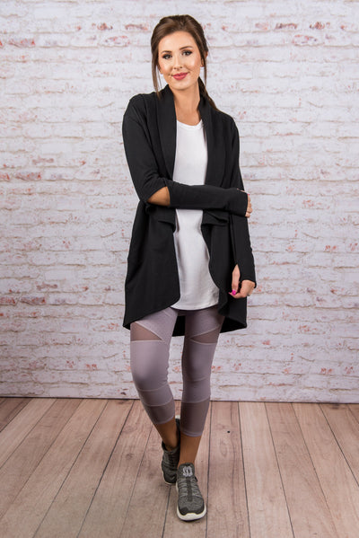 Warm Feelings Cardigan, Black