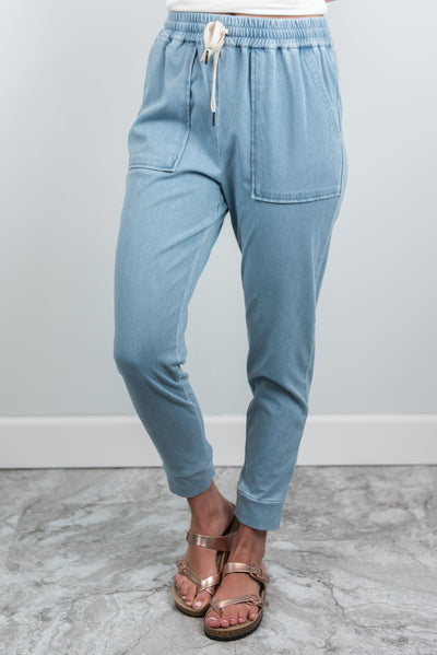 No Effort Needed Pants, Light Denim