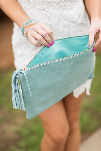 Let's Go Out Clutch, Light Blue