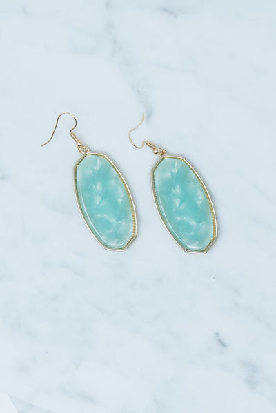 Picture Perfect Earrings, Dusty Mint