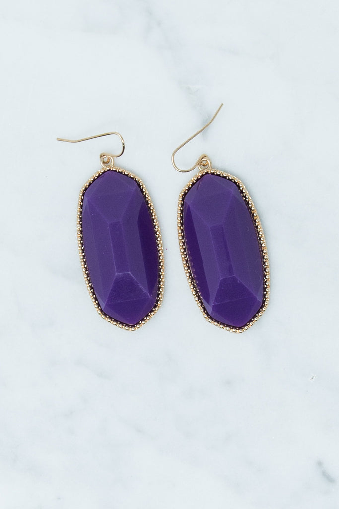 Sunny Spring Day Earrings, Purple