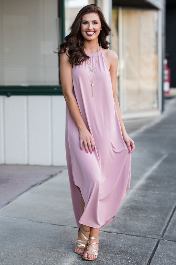 Boldly We Go Maxi Dress, Dusty Purple