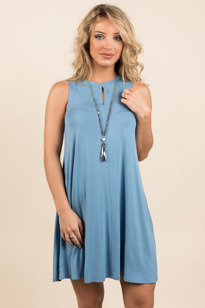 Forever On My Mind Dress, Blue
