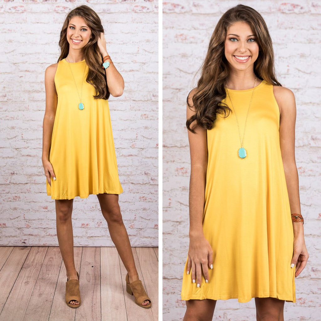 Simple Gifts Dress, Mustard