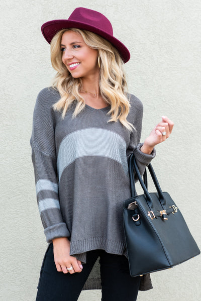 Funday Fab Sweater, Charcoal-Gray