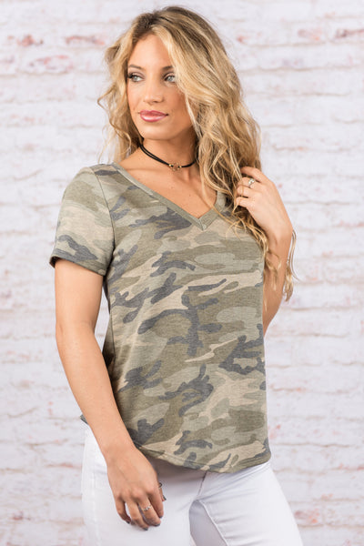 Can't Hide Forever Top, Olive