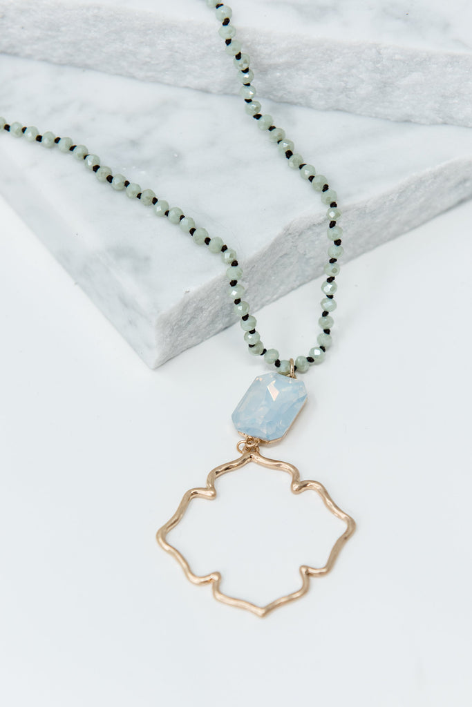 Never Enough Necklace, Pale Green