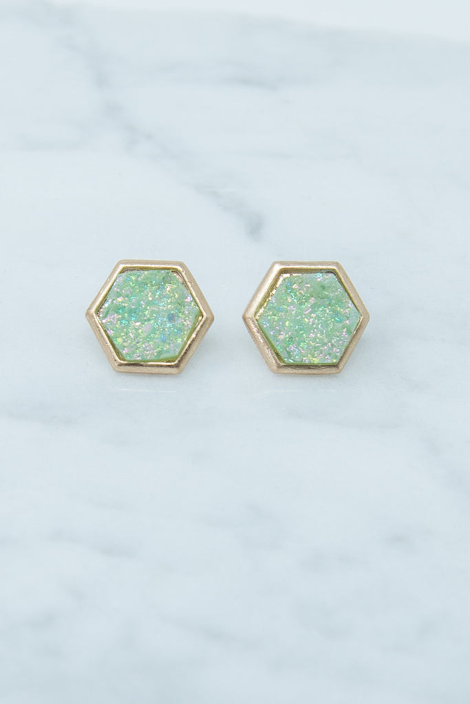 Sweet Summer Earrings, Mint